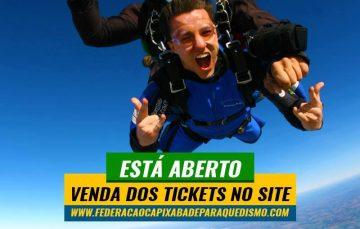 Paraquedismo em Guarapari: Vendas de ingressos nesta segunda-feira
