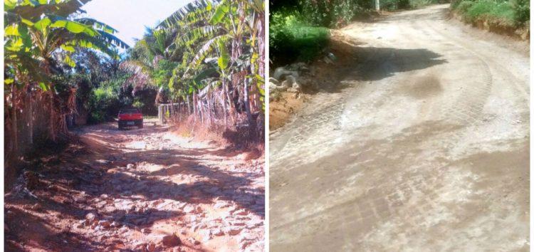 Arraial de Jaboti recebe pavimentação das estradas