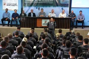 Policiais vão atuar nas operações Natal e Verão no Sul do Estado. Fotos: Pedro Quitiba/Assessoria PMA