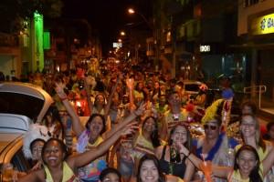 Neste ano, 17 blocos participaram do desfile em Alfredo Chaves. Foto: Secom/PMAC