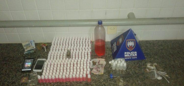 Indivíduos são detidos com droga em rave na Praia Doce