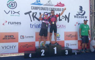 Atleta de Guarapari conquista 1º lugar entre homens no Capixaba de Triatlhon
