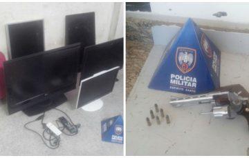Abordagem policial prende suspeitos e recupera eletrodomésticos furtados