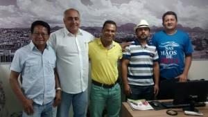 Representantes do PRB de Guarapari visitaram a redação do Folha da Cidade na manhã desta sexta.
