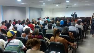 Mais de 100 pessoas estiveram presentes em audiência pública promovida pelo MP-ES