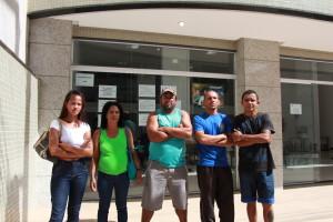 Grupo chegou hoje cedo na agência, mas teve que voltar para casa sem atendimento.