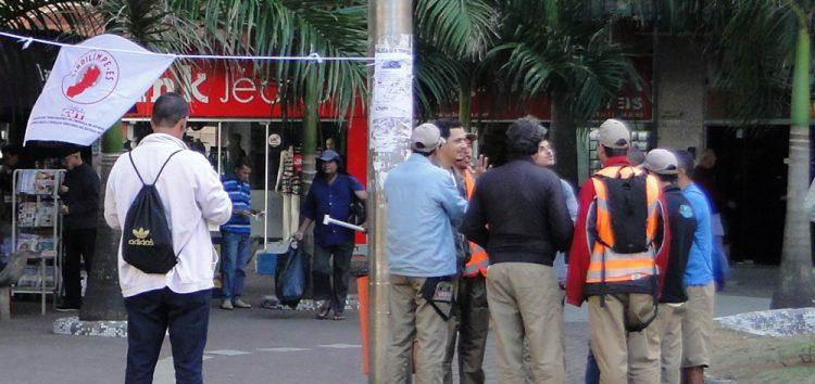 Empresa atrasa pagamento e agentes do rotativo fazem nova paralisação