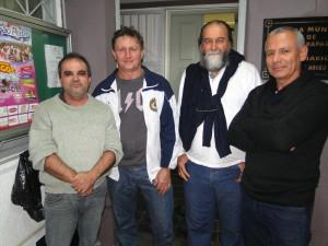Representantes da Associação dos Policiais Federais do Espírito Santo: Marcelo, Leozir, Flávio e Marcelo Thompsom.