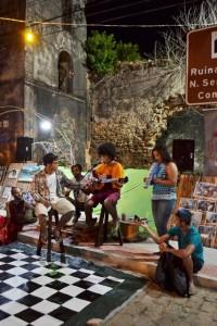 Duarte e amigos na primeira edição do Sarau. Foto: Divulgação.