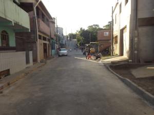 ruas pavimentadas em guarapari