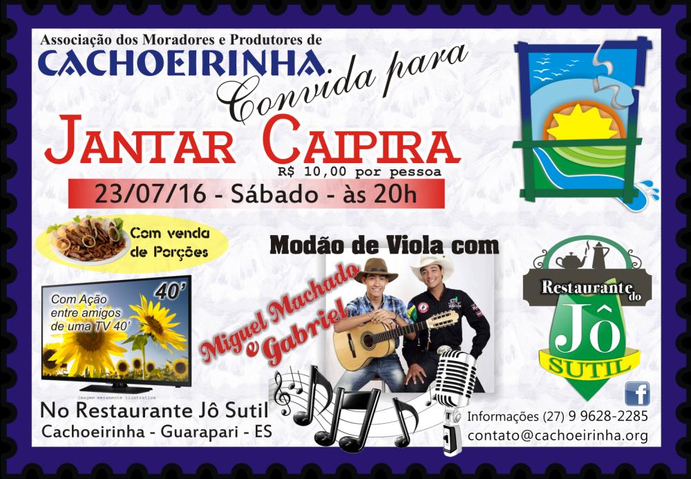 Convite Jantar Cachoeirinha