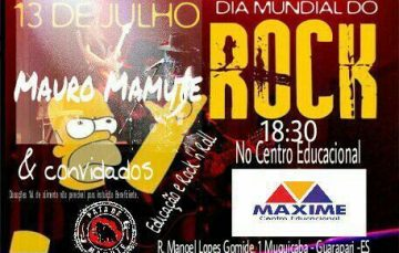 Projeto educativo vai celebrar Dia Mundial do Rock em Guarapari