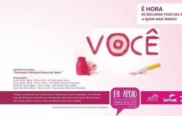 Senac-ES recebe doações para AFECC e participa da campanha Outubro Rosa