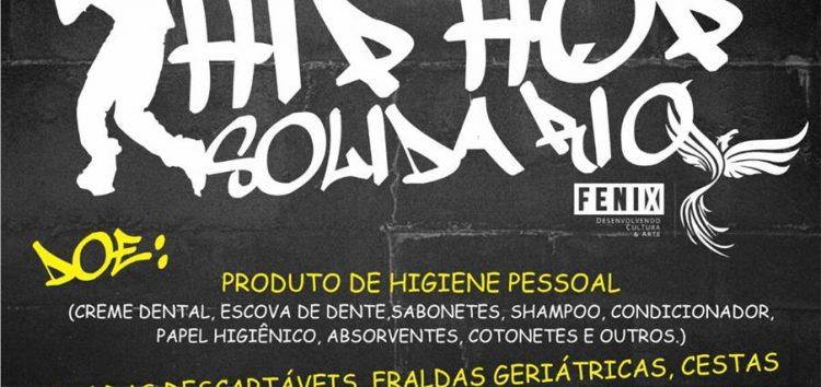 Hip Hop Solidário arrecada donativos para famílias carentes neste sábado