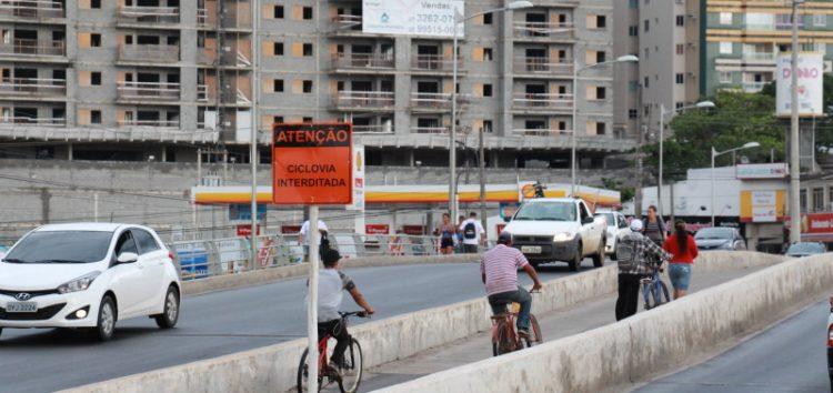 Ponte tem ciclovia interditada e muda trânsito a partir de amanhã no Centro