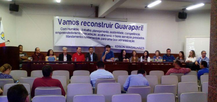 Prefeito Edson Magalhães anuncia novo secretariado