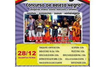 Noite da Beleza Negra: desfile, música e concurso hoje no Siribeira