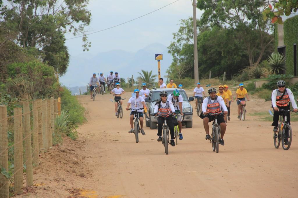 Ciclistas vão percorrer 65 quilômetros.