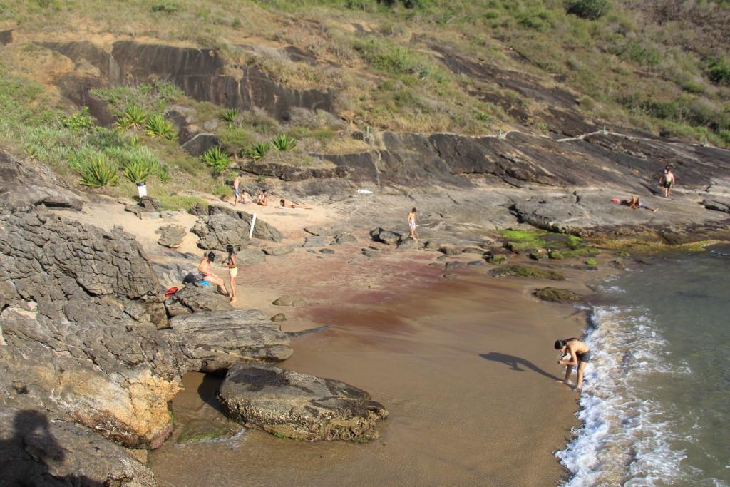Praia da Areia Vermelha.