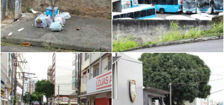 Lixo nas ruas, ônibus na garagem, comércio fechado, PM no quartel e população presa