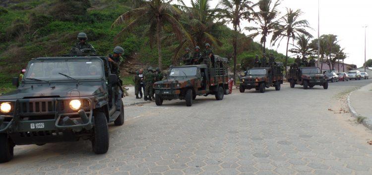 Tropas do Exército já estão patrulhando as ruas de Guarapari