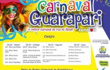 Prefeitura de Guarapari divulga programação oficial do Carnaval 2017