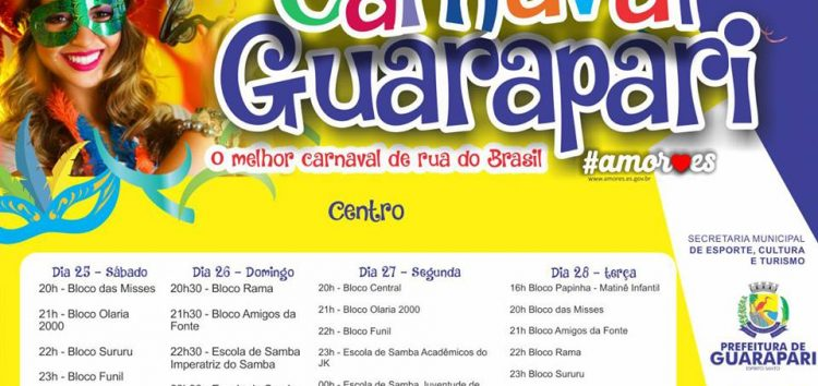Confira o que vai ter neste Carnaval em Guarapari