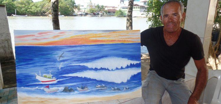 Mestre Dubú: morador de Perocão com uma vida no mar e uma paixão pela pintura
