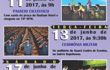 PM divulga programação em comemoração ao aniversário do batalhão de Guarapari