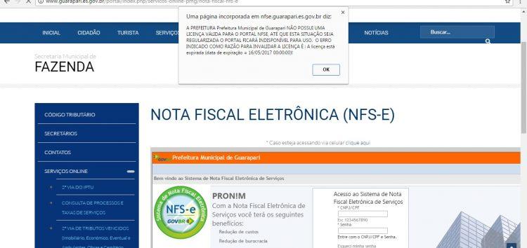 Usuários ainda encontram dificuldades para emitir nota fiscal eletrônica em Guarapari