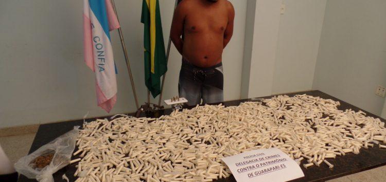 Delegacia Patrimonial de Guarapari apreende quase dois mil pinos de Cocaína em Santa Mônica
