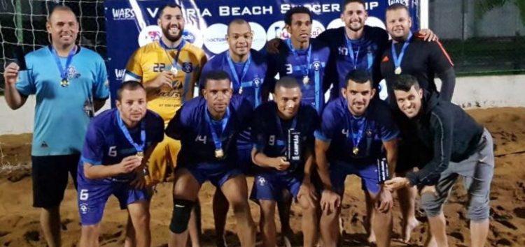 """""""Guarapari"""" vence a 2ª Etapa do Vitória Beach Soccer e conquista troféu"""
