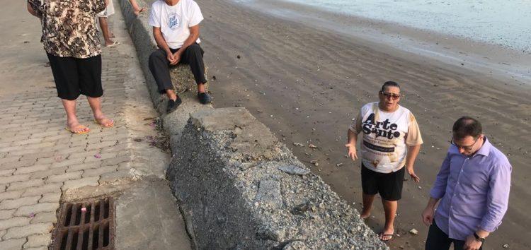 Prefeito de Anchieta busca recursos federais para conter avanço da maré