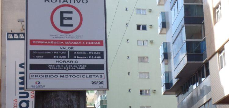 Novo sistema rotativo terá parquímetro e vagas de acordo com a temporada em Guarapari