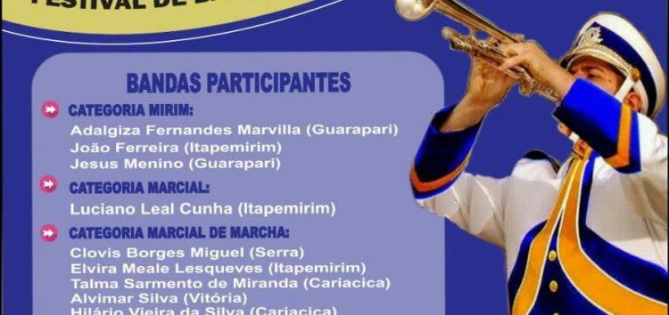 Prefeitura realiza 1º Festival de Bandas Escolares de Marchas