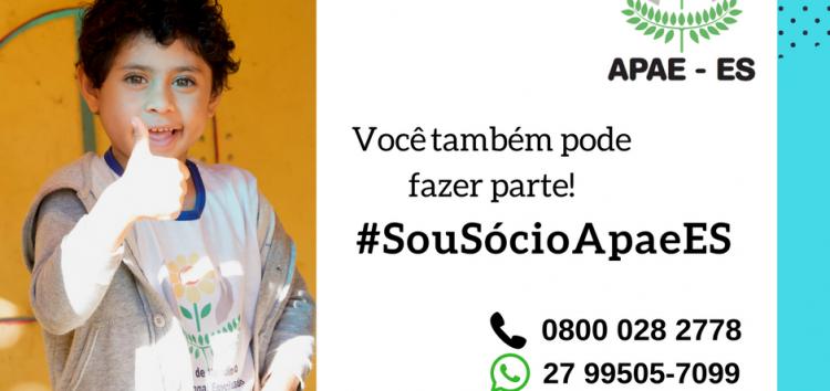 Campanha #SouSócioApaeES é lançada em Guarapari e todo Estado