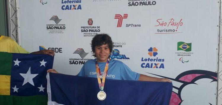 Atleta de Guarapari conquista três medalhas de ouro nas Paralimpíadas Escolares de São Paulo