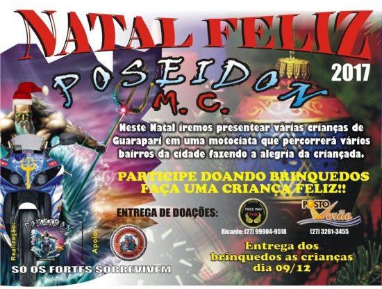 Motociclistas realizam doações de brinquedos neste sábado (9) em Guarapari