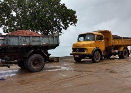 Prefeitura inicia obras de aterro na orla de Meaípe