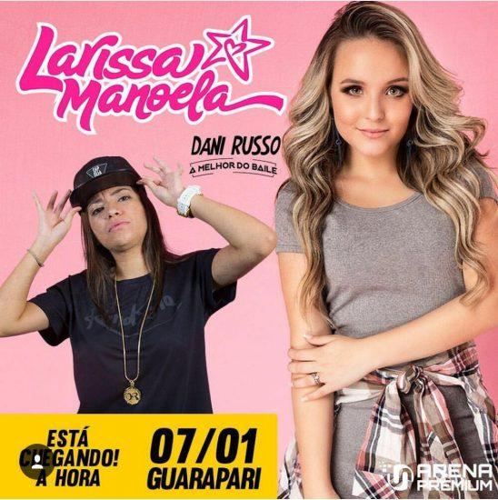 ... e a atriz Larissa Manoela. O Festival Infantil terá início às 18 horas  e há disponibilidade para compra de ingressos da bilheteria do evento. 39bc155624