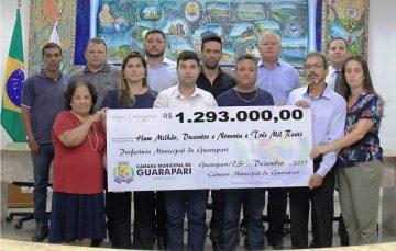 Câmara de Guarapari devolve mais de R$1 milhão à Prefeitura para melhorias na Saúde