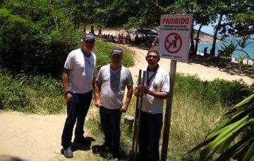 Praia dos Padres recebe fiscalização da Prefeitura