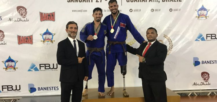 Paratleta de Guarapari é destaque nacional de Jiu-Jitsu