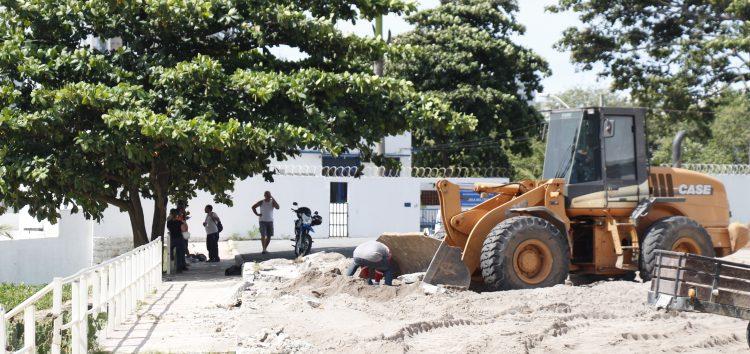 Prefeitura interrompe a obra da Prainha em seu segundo dia