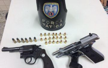 Drogas e armas apreendidas no Carnaval de Anchieta