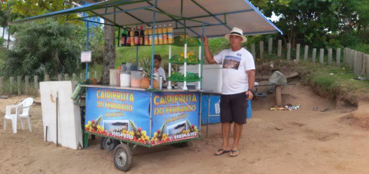 Caipifruta do Fernando é sucesso na Bacutia, em Guarapari