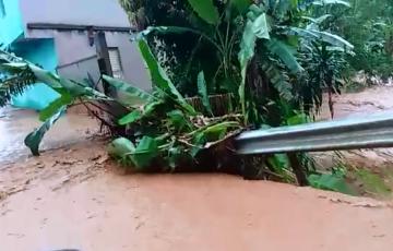 Temporal deixou três famílias desalojadas e duas pontes destruídas em Alfredo Chaves