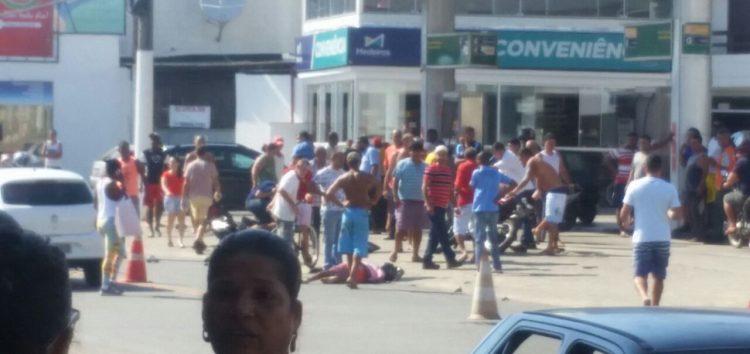 Acidente grave com duas motos em Santa Mônica, Guarapari