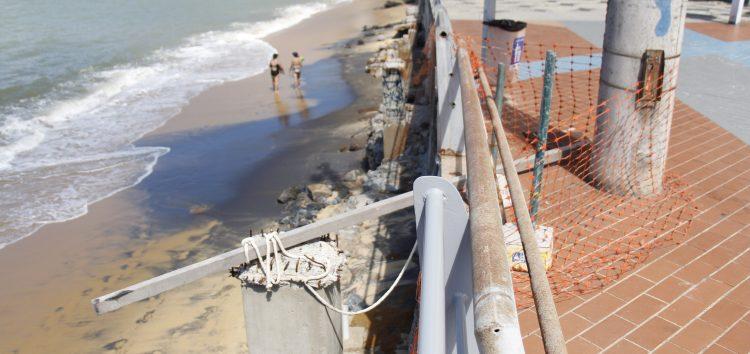 Moradores pedem conclusão das obras nas praias da Areia Preta e das Castanheiras