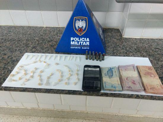 Apreensão de drogas no fim de semana em Guarapari; Em uma das abordagens foram encontrados 181 pinos de cocaína